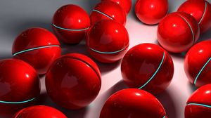 Preview wallpaper balls, sphere, red, glass