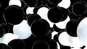 Preview wallpaper balls, spheres, black, white