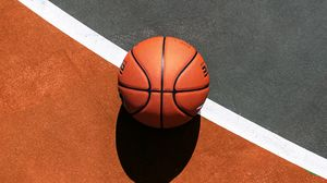 Preview wallpaper basketball, ball, basketball court