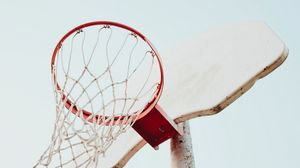 Preview wallpaper basketball hoop, basketball, hoop, sky, sport