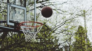 Preview wallpaper basketball, ring, ball, throw