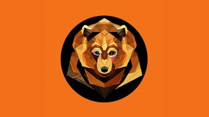 Preview wallpaper bear, graphics, color, abstraction