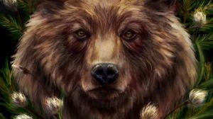 Preview wallpaper bear, horns, predator, art