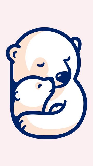 360x640 Wallpaper bears, bear, hugs, art, vector