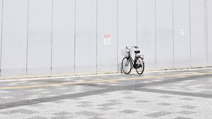 Preview wallpaper bicycle, minimalism, parking