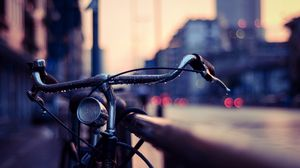 Preview wallpaper bicycle, wheel, drops, blur