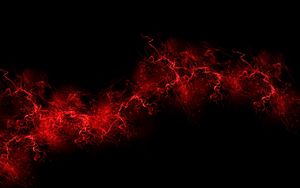 Preview wallpaper black background, red, color, paint, explosion, burst