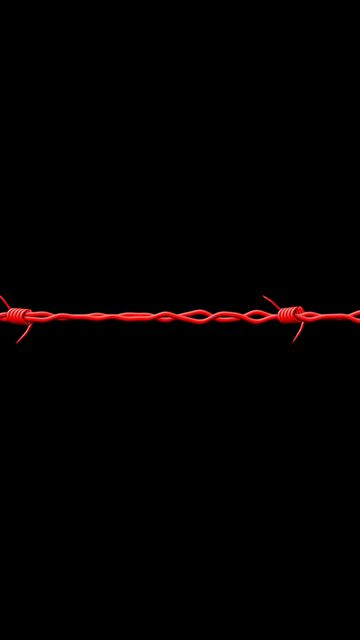 360x640 Wallpaper black, barbed wire, red