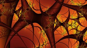 Preview wallpaper black, orange, blood vessels, system