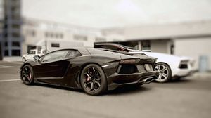 Preview wallpaper black, stylish, cars, lamborghini