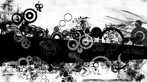 Preview wallpaper black white, spot, shape, smeared