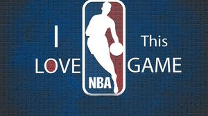 Preview wallpaper blue, nba, background, basketball, logo