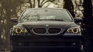 Preview wallpaper bmw, 520d, black, front view, front bumper