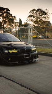 Preview wallpaper bmw, black, m3, e46, tuning