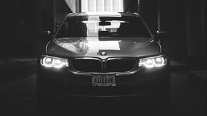 Preview wallpaper bmw, car, bw