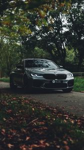 Preview wallpaper bmw, car, side view, road, transport