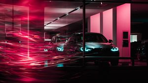 Preview wallpaper bmw, cars, long exposure, light, lines