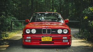Preview wallpaper bmw, e30, m3, red, tuning