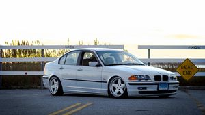 Preview wallpaper bmw, e46, 325i, 3 series, white, side view