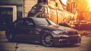 Preview Wallpaper Bmw E90 Deep Concave Black Helicopter