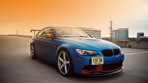 Preview wallpaper bmw, e92, m3, blue