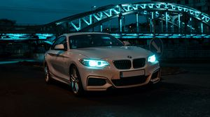 Preview wallpaper bmw, front view, headlights, white