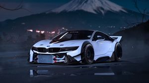 Preview wallpaper bmw, i8, tuning, sport car, front view