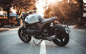 Preview wallpaper bmw k100, motorcycle, bike, side view