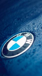 Preview wallpaper bmw, logo, drops