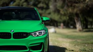 Preview wallpaper bmw, m3, 2016, green, front view