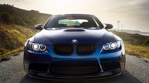 Preview wallpaper bmw, m3, e92, laguna blue
