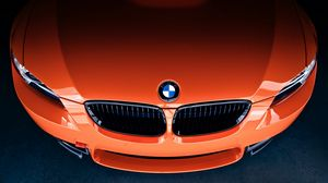 Preview wallpaper bmw, m3, front, orange, label, icon