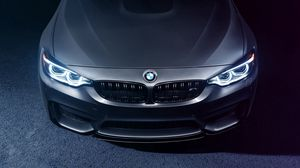 Preview wallpaper bmw, m4, hood, front view