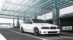 Preview wallpaper bmw m5, tuning, white, 5 series, sedan, e39
