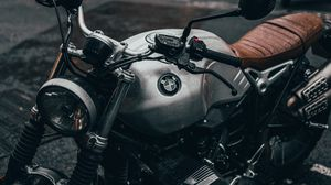 Preview wallpaper bmw, motorcycle, bike, gray