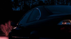Preview wallpaper bmw, side view, car, night, dark