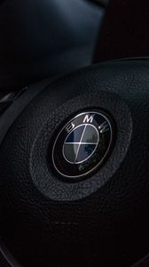 Preview wallpaper bmw, wheel, logo