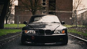Preview wallpaper bmw, z3, black, front, wet