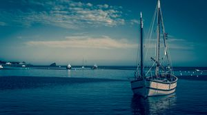 ... Preview wallpaper boat, harbor, sea