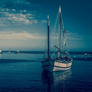 Preview wallpaper boat, harbor, sea