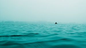 Preview wallpaper boat, sea, alone, solitude