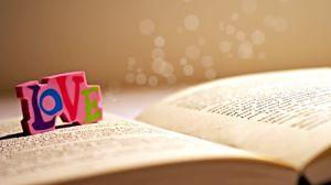 Preview wallpaper book, dice, label, love, word