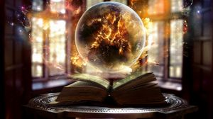 Preview wallpaper book, sphere, magic, sorcery