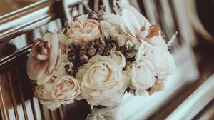 Preview wallpaper bouquet, flowers, composition, piano