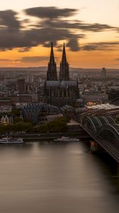 Preview wallpaper bridge, architecture, gothic, cologne, germany