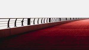 Preview wallpaper bridge, minimalism, railing, dubai, united arab emirates