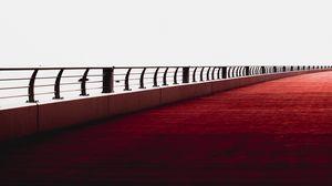 Preview wallpaper bridge, minimalism, railing, dubai, united arab emirates