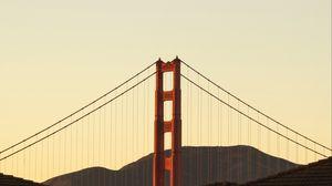 Preview wallpaper bridge, mountains, minimalism, architecture