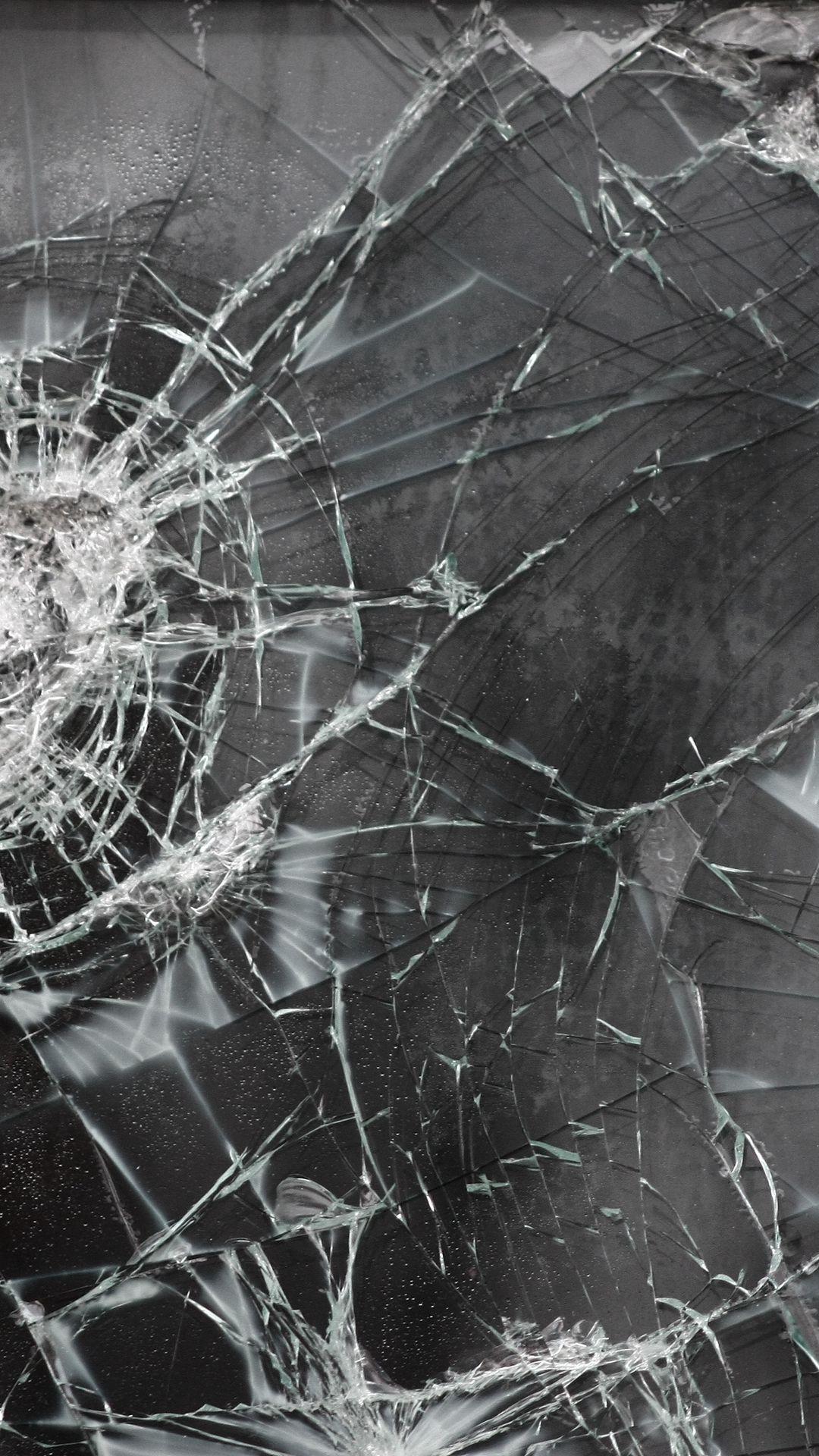 1080x1920 Wallpaper broken glass, cracks, texture