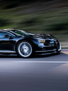 ... Preview Wallpaper Bugatti, Chiron, Speed, Side View